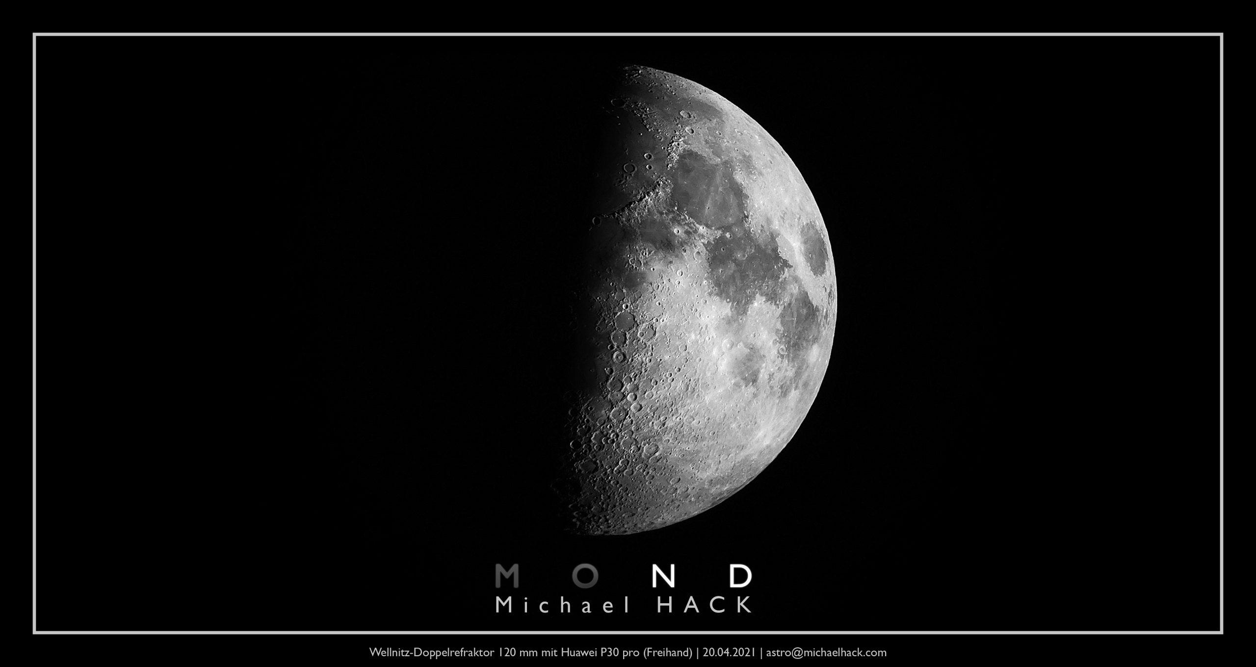 Der Mond (20.04.2021) von Michael Hack